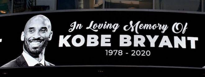 Kobe Bryant memorial banner