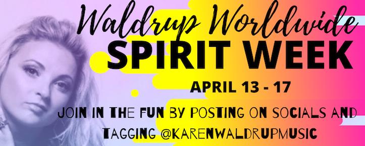 Karen Waldrup Worldwide Spirt Week