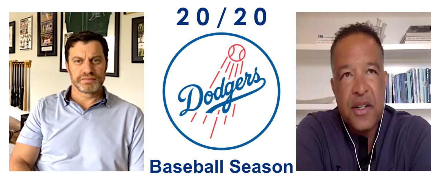 Los Angeles Dodgers coach Dave Roberts and Operations President Andrew Friedman zoom press conference June 25, 2020