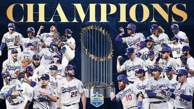 World Champions 2020 Dodgers