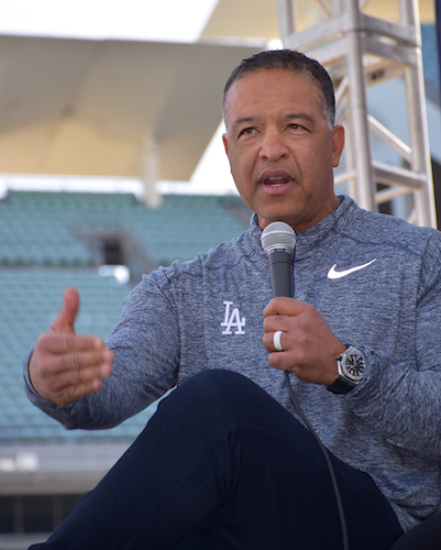 Los Angeles Dodgers manager, Dave Roberts at Fanfest 2019.