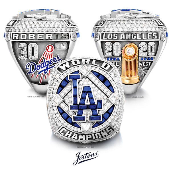 Los Angeles Dodgers 2020 World Series Championship Rings by Jostens