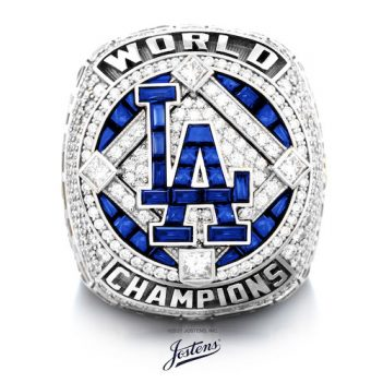 Los Angeles Dodgers 2020 World Series Championship Ring-Front view