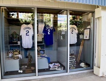 Tommy LaSorda memorabilia showcase at Dodger Stadium image.