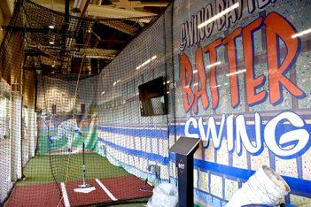 Batting Cages at Dodger Stadium.