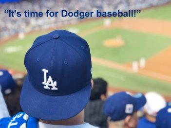 Dodger fan at Dodger Stadium.