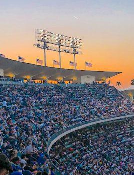 Fans at Dodger Stadium image
