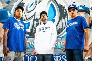 Dodger Stadium street mural artists Hector Arias, Chris Corona, Michael Villanueva Matugas